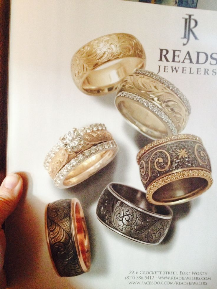 Beautiful western wedding rings