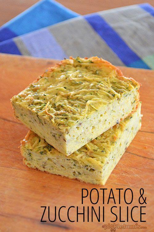 Potato and Zucchini Slice recipe - quick, easy and delicious!