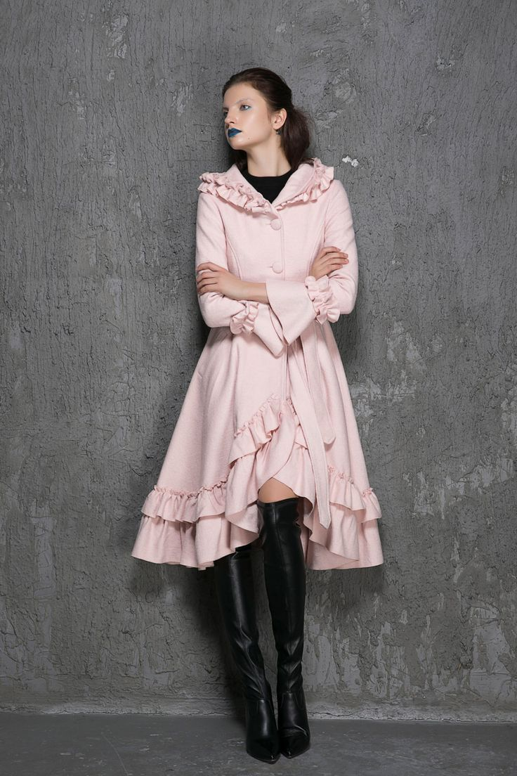 1000  ideas about Pink Wool Coat on Pinterest   Wool coats Pink