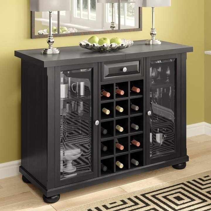 Co Darby Home Pottstown Bar Cabinet With Wine Storage Wine