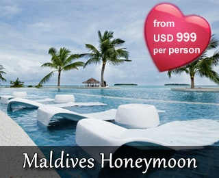Maldives Honeymoon. Starting from USD 999 / person. PEAK SEASON PERIOD (01 Jan – 06 Jan'13 & 01 Feb – 16 Feb'13). HIGH SEASON PERIOD (07 Jan – 31 Jan'13 & 17 Feb – 15 Apr'13). For booking and more information, please contact us +6221 231 6306 or visit www.ezytravel.co.id