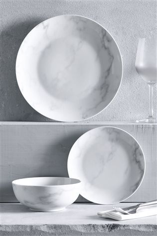 Buy 12 Piece Marble Dinner Set from the Next UK online shop