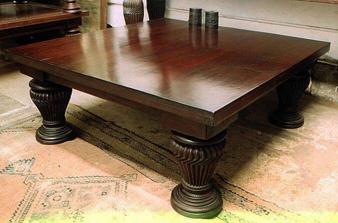 Square Mahogany Coffee Tables by Mahogany Tables, Inc.