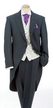 Charcoal Grey Tail Suit, not in purple...