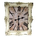 Distressed cream ornate framed wall clock