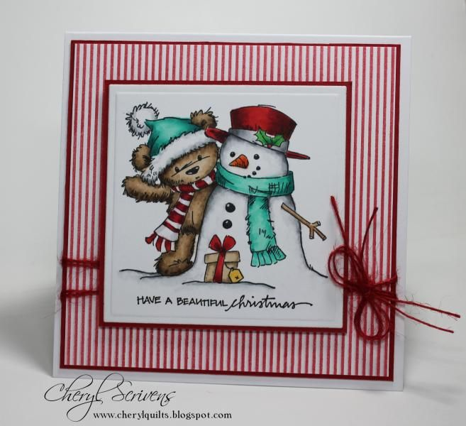 James and Snowman by CherylQuilts - Cards and Paper Crafts at Splitcoaststampers