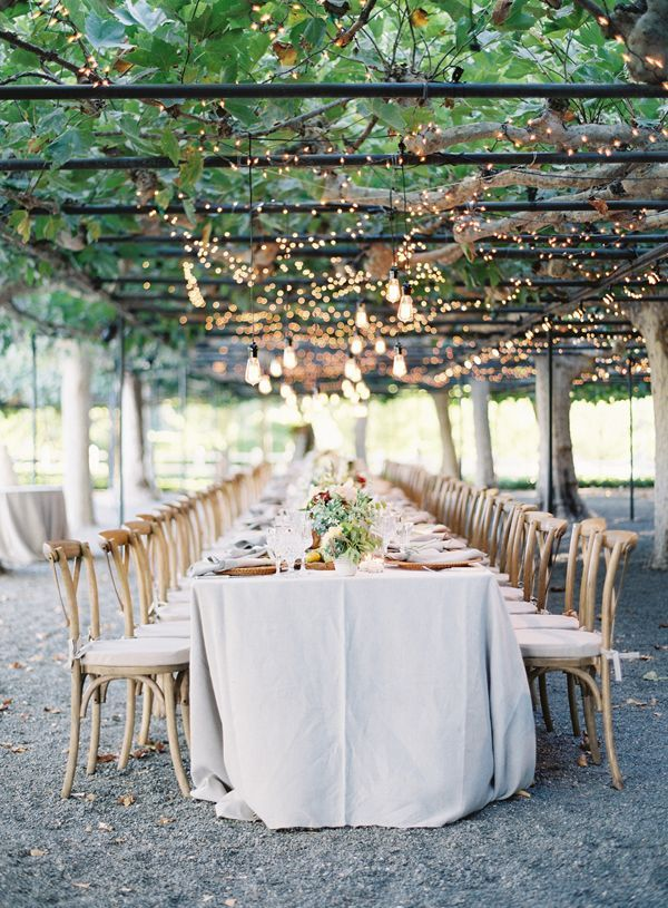 Romantic Vineyard Wedding Reception