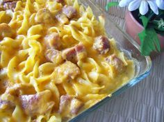 Ham And Noodle Casserole Recipe - Food.com subbed with ground Seiten cream of mushroom soup and added sauté onions garlic and turmeric
