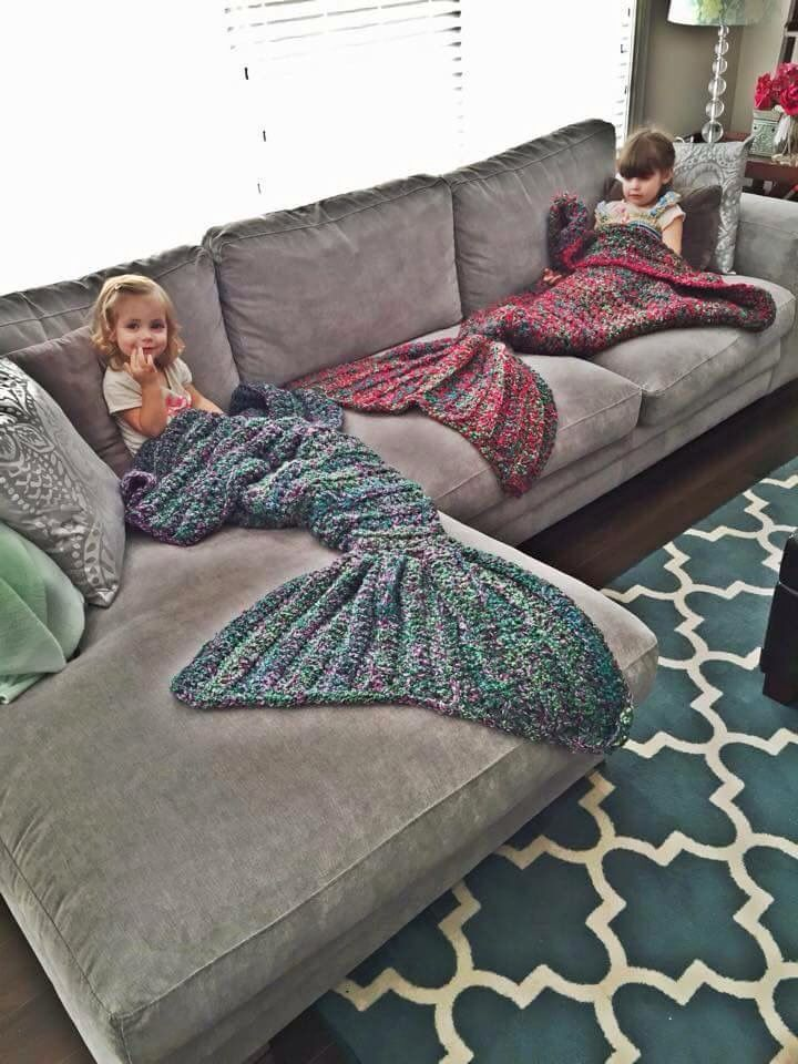 Mermaid tale blanket!! So cute!!