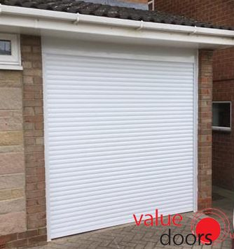 Another one of our Roller Shutter Garage Doors in White!