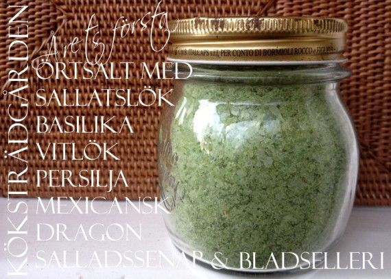 Recept på Örtsalt - Herbal salt, recipe