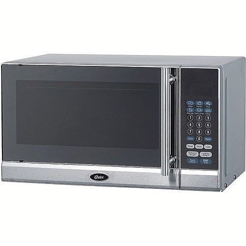 Microwave Oven 0.7-Cubic Foot With 10 Adjustable Power Levels Silver New #DealsToaday