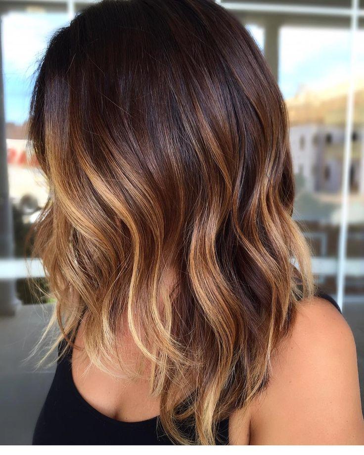 Best 25 Dark Hair Highlights Ideas On Pinterest