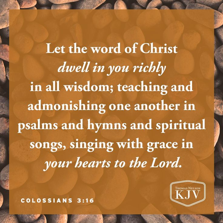KJV Verse of the Day: Colossians 3:16