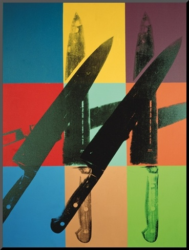 Knives, c.1981-82 (multi squares) Art Print by Andy Warhol