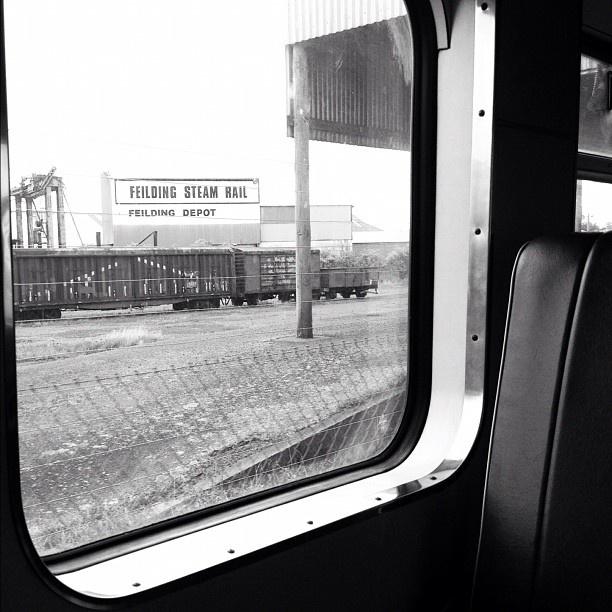 #feildingsteamrail taken from the carriage of a heritage #steamtrain #nz #newzealand #instagram
