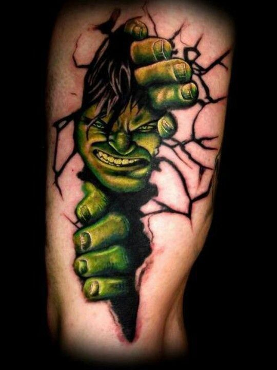 Download Free hulk tattoo to use and take to your artist.