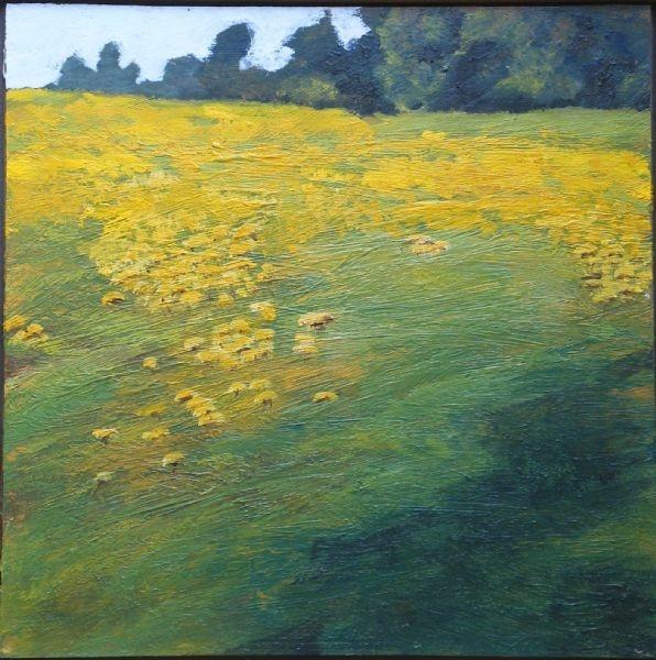 Dandelion Field - Acrylic | Catherine Morris | Painters Online