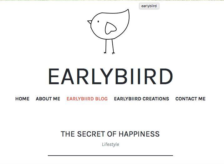 New blog post! - https://earlybiirdblog.com/2017/01/14/the-secret-of-happiness/