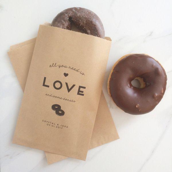 Wedding favor Ideas #ad - Donut Wedding Favor Bag