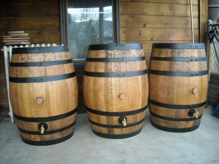 Oak wine/wiskey barrels made into water barrels