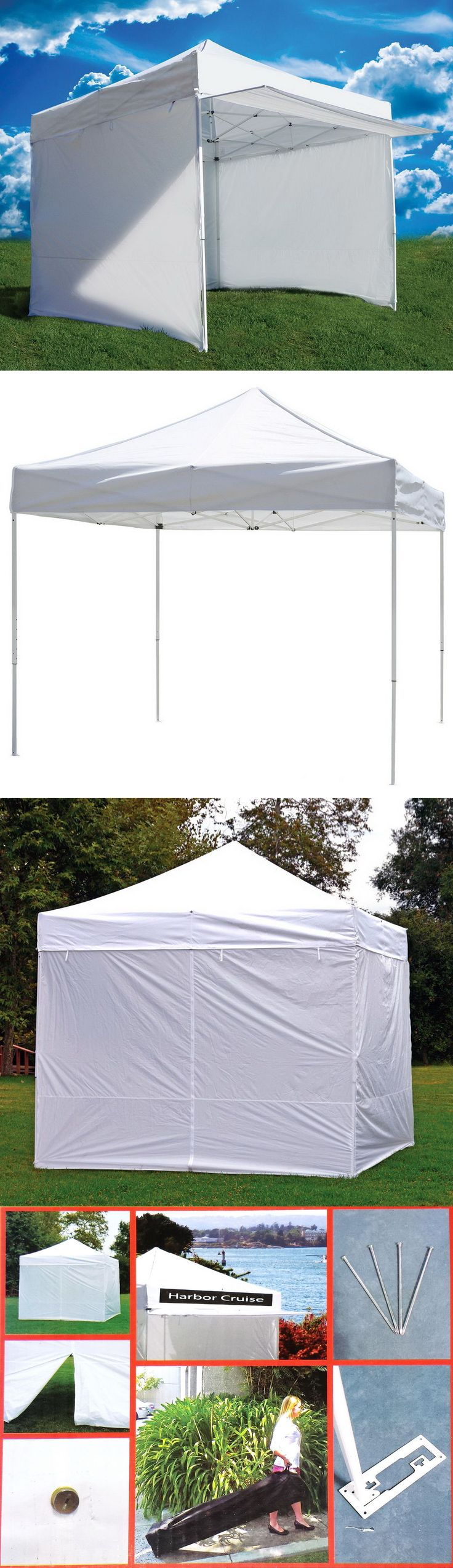 Awnings and Canopies 180992: New 10 X 10 Commercial Canopy Shelter Pop Up Fair Tent Booth Z-Shade + 4 Walls -> BUY IT NOW ONLY: $218.89 on eBay!