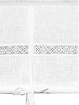 Hissgardin vit med spets i shabby chic lantlig stil