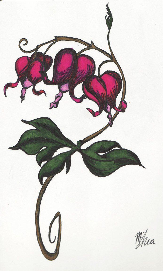 Heart tattoos designs - Bleeding Heart Flowers Heart Sketch Tattoo For Men And Women