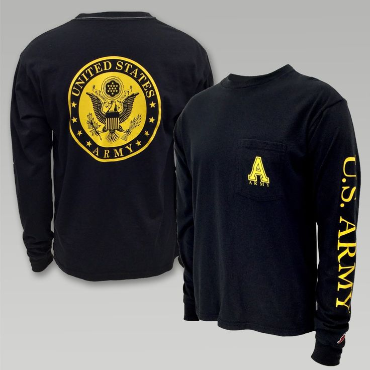 """This vintage inspired long sleeve T from League will be welcomed with open arms. The super soft wash gives this T a lived in feel! &nbsp  100% Cotton Pocket on front left chest Water based ink used for the screen printed designs front, back and sleeve has a soft hand Screen print """"U.S Army"""" down the left sleeve Screen print  US Army Sealon back  """"A"""" and """"Army""""on front chest pocket"""