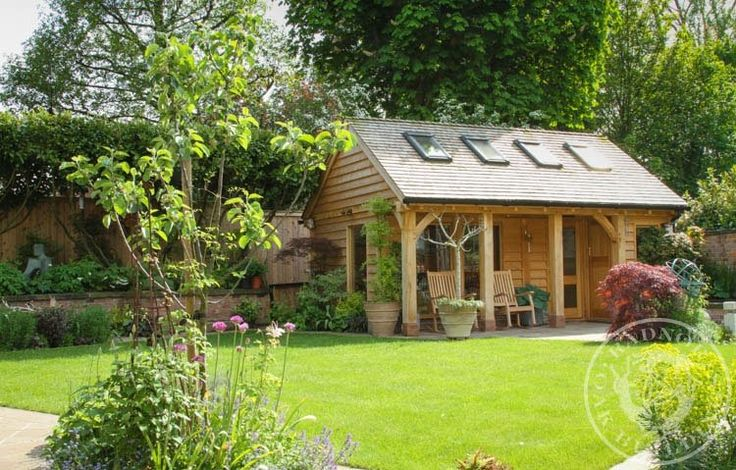 18 best home offices annexes summerhouses images on for Oak garden office