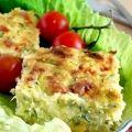 Кабачковый пирог с сыром и беконом