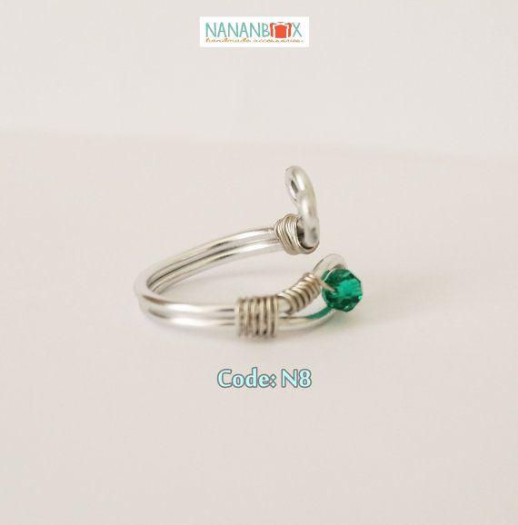 Green eye ring  Code: N8 by Nananbox on Etsy
