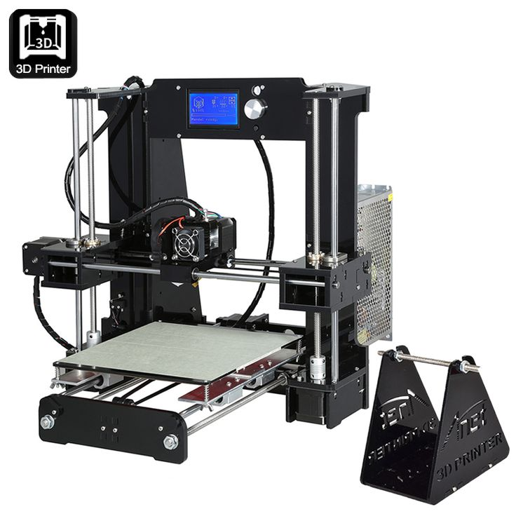 Image of ANET A6 DIY 3D Printer Kit - Metal + Acrylic Frame, Multiple Filaments, 100MM Per Second Print Speed, Windos Mac + Linux Support