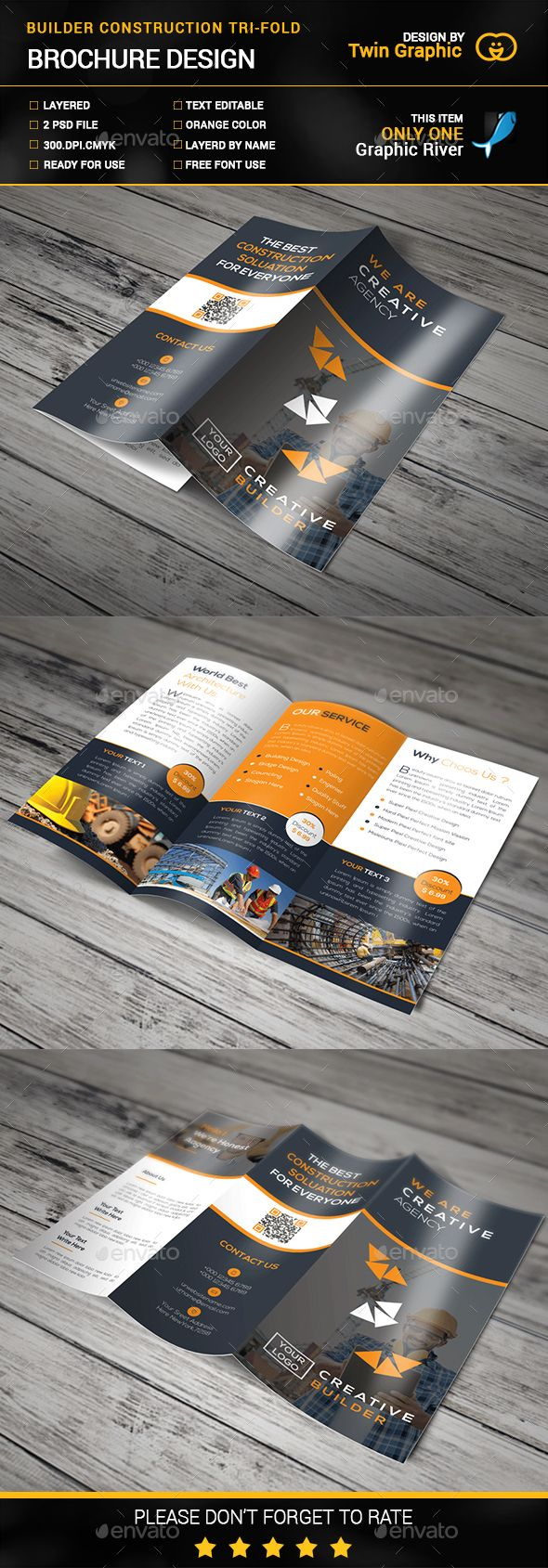 Construcation Tri-Fold Brochure. Download here: http://graphicriver.net/item/construcation-trifold-brouchure/14883277?ref=ksioks