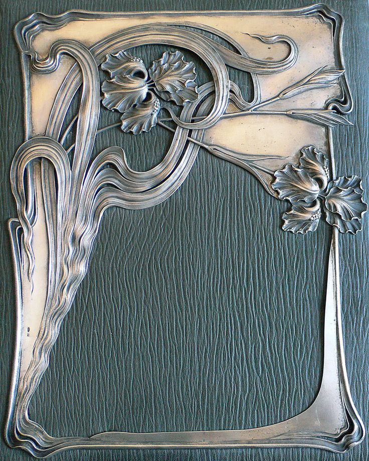 yama-bato:  Art Nouveau Russian Silver Imperial Document Folio 1898-1908 via
