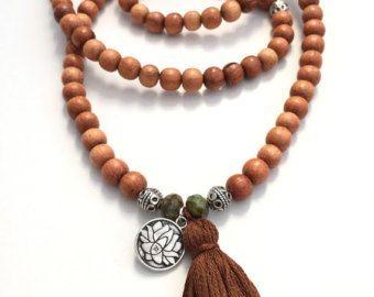 amazonite mat 108 perle mala traditionnel collier par eversdesigns