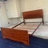 Midcentury Full Bed Frame Set