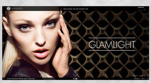 Responsive website Evagarden makeup Homepage