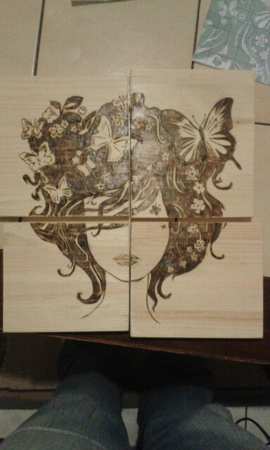 Madame butterfly ... wood burning