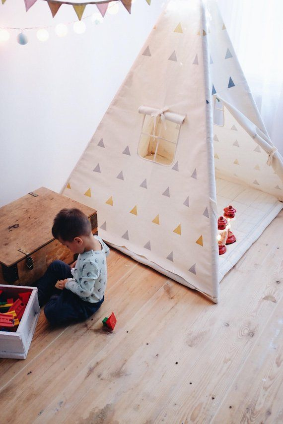Gray Brass Play Tent Play Tent For Kids Teepee Tents Kids Play Tent Playhouse For Kids Gray Tent Baby Boy Baby Girl Gifting