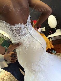 Custom Casey Jeanne wedding gown ♥ www.caseyjeanne.com www.facebook.com/... ww...