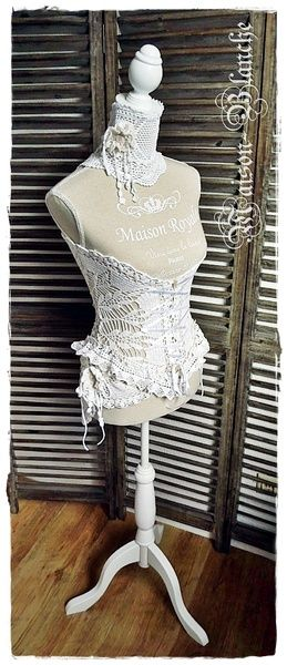 Schneiderpuppe mit Spitze Vintage von Maison-blanche auf DaWanda.com
