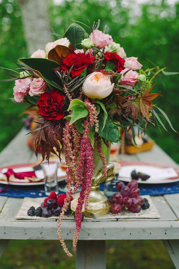 Toque Catering Company Victoria BC | Vintage Marsala Wedding Inspiration