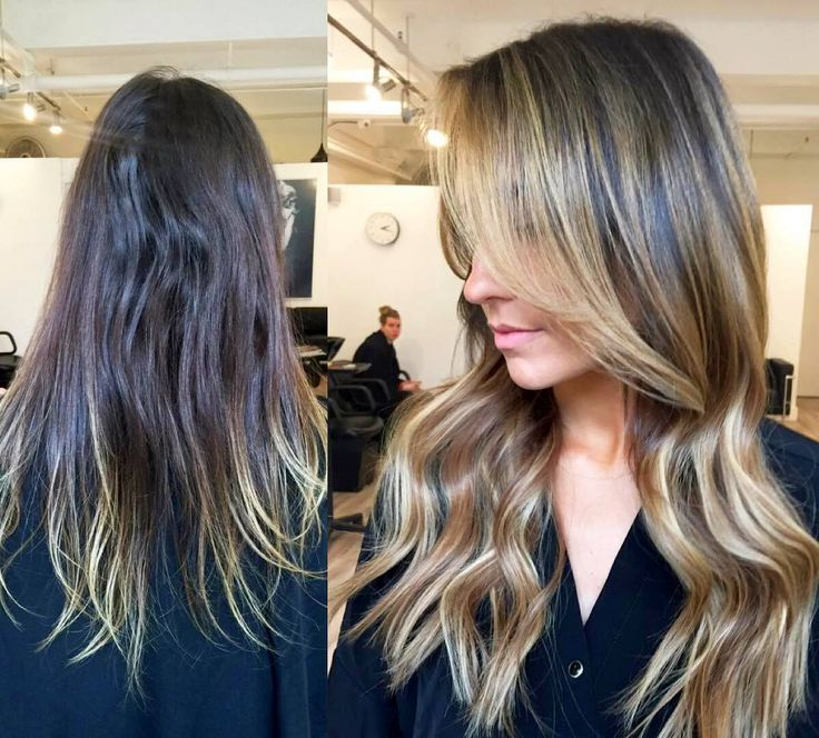 awesome Модное калифорнийское мелирование волос (50 фото) — На темные и светлые локоны