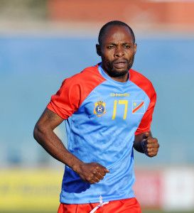 Guy Basisila of DR Congo during the 2016 Cosafa Cup 3rd Place Play Off match between Swaziland and DR Congo at Sam Nujoma Stadium in Windhoek Namibia on 25 June, 2016 ©Muzi Ntombela/BackpagePix