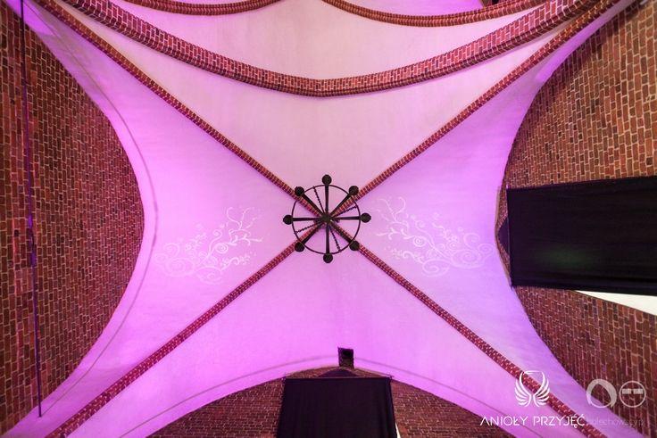 11. Fuchsia Wedding,Ceiling decoration / Wesele fuksjowe,Dekoracje sufitu,Anioły Przyjęć