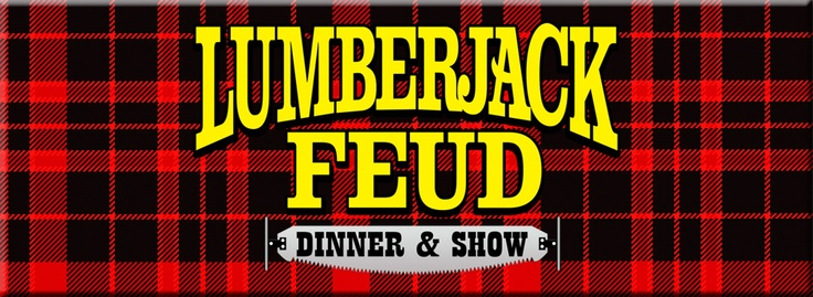 Lumberjack Feud, Pigeon Forge Dinner Show, Pigeon Forge Theatre, Tennessee Attractions. Stay in a cabin visit http://www.firesidechalets.com
