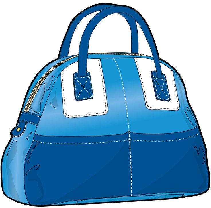 dark/ light blue bag with short handles