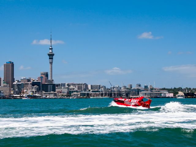 Fast Jet Boat Trips & Tours Auckland with Auckland Adventure jet boat