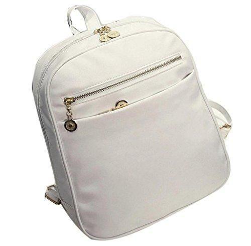 Oferta: 8.99€. Comprar Ofertas de Tongshi Mochila de cuero viaje mochila moda hombro bolso mochila escolar de las mujeres (Blanco) barato. ¡Mira las ofertas!
